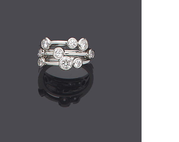 A diamond dress ring, by Boodle & Dunthorne