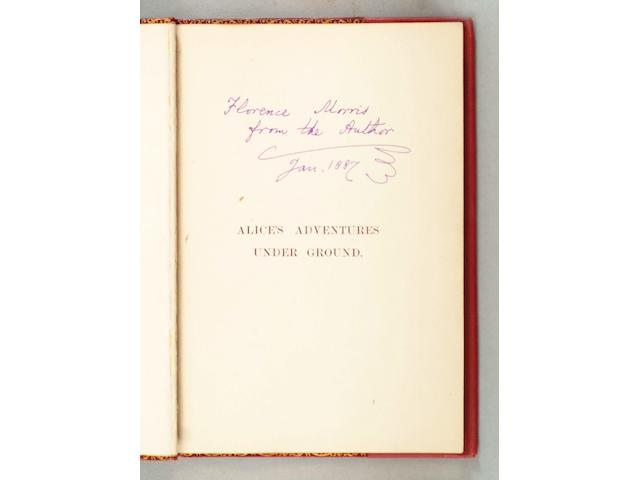 DODGSON (CHARLES LUTWIDGE) 'Lewis Carroll' Alice's Adventures Under Ground