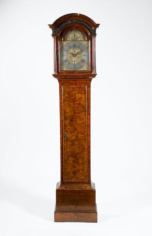 A mid 18th century walnut longcase clock Caldecot, Huntingdon