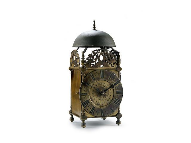 A Lancashire lantern clock, Barnaby Matthews, circa 1700,
