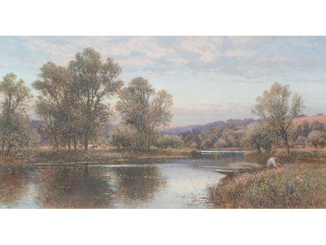 Alfred Augustus Glendening (1861-1907) Sonning on Thames, and Bolney Court on Thames, a pair, (2)