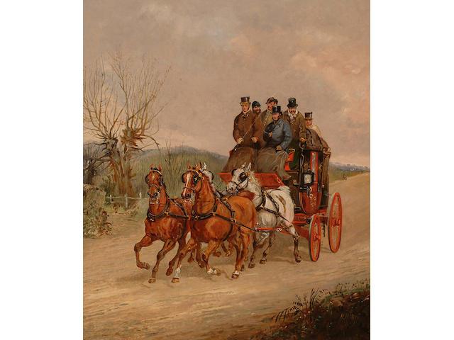 Henry Alken Jnr. (British, 1810-1894) Coaching scenes. (2)