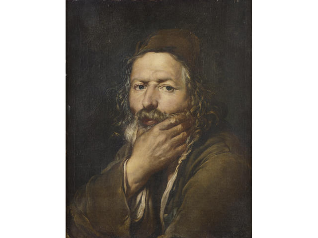 Giacomo Ceruti, called Pitocchetto (active Lombardy 1724-1757) An elderly bearded man resting his ch
