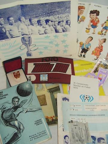 A collection of World Cup ephemera