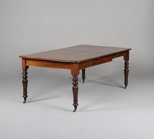 A late Regency mahogany dining table