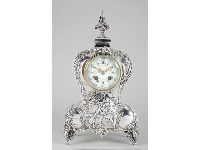 An Edwardian mantel clock By William Comyns, 1902,