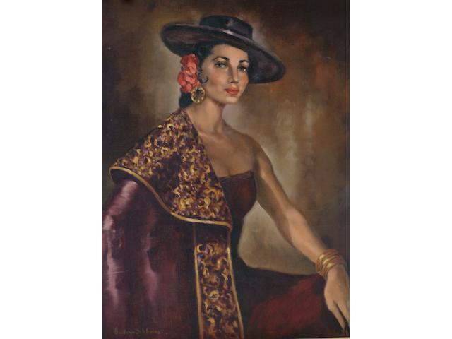 Gudren Sibbons A Spanish beauty, 50 x 41cm.