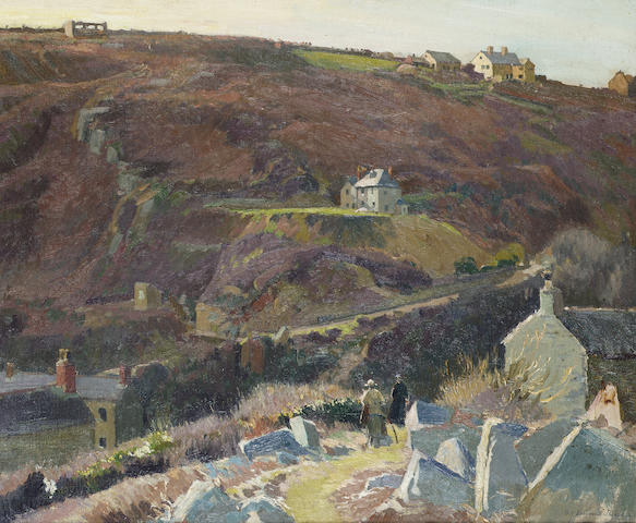"Samuel John Lamorna Birch ""Under the cliffs"" oil on canvas"