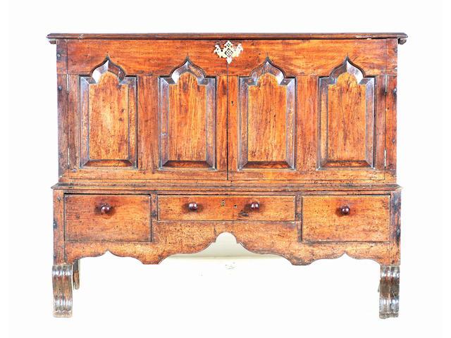 An 18th Century South Wales oak mule chest
