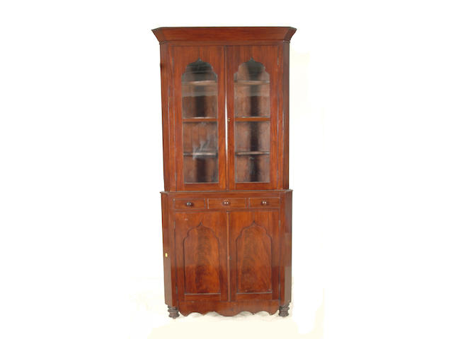 A 19th Century Welsh mahogany standing corner cabinet