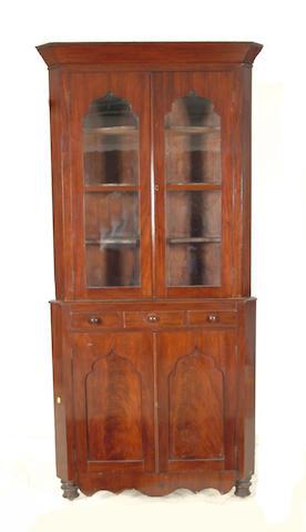 A 19th Century Welsh mahogany standing corner cabinet