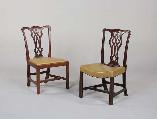 Two mahogany dining chairs