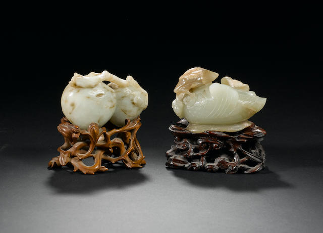 Two jade carvings  18th century