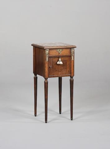 A 19th century walnut table de nuit