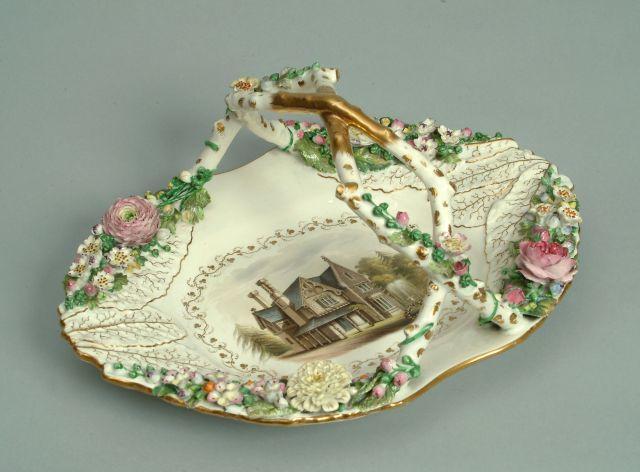A Rockingham basket