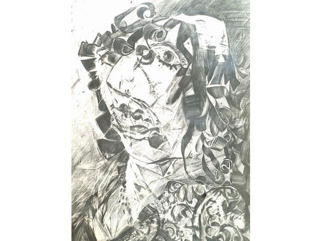 John Uzzell Edwards (1937-) 'Study for Gladys' 113 x 84cm.