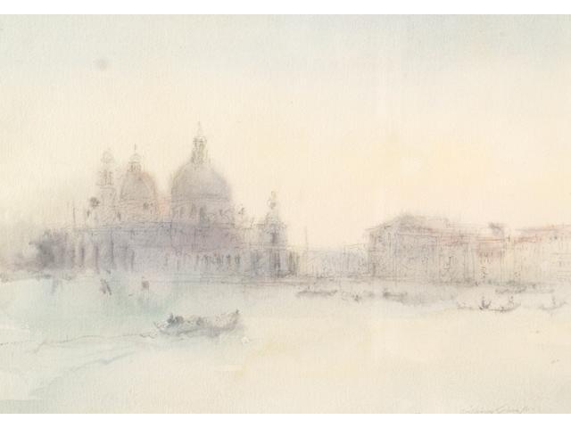 Diana M Armfield (1920-) 'Evening light from the Riva, Venice' 10 x 20cm