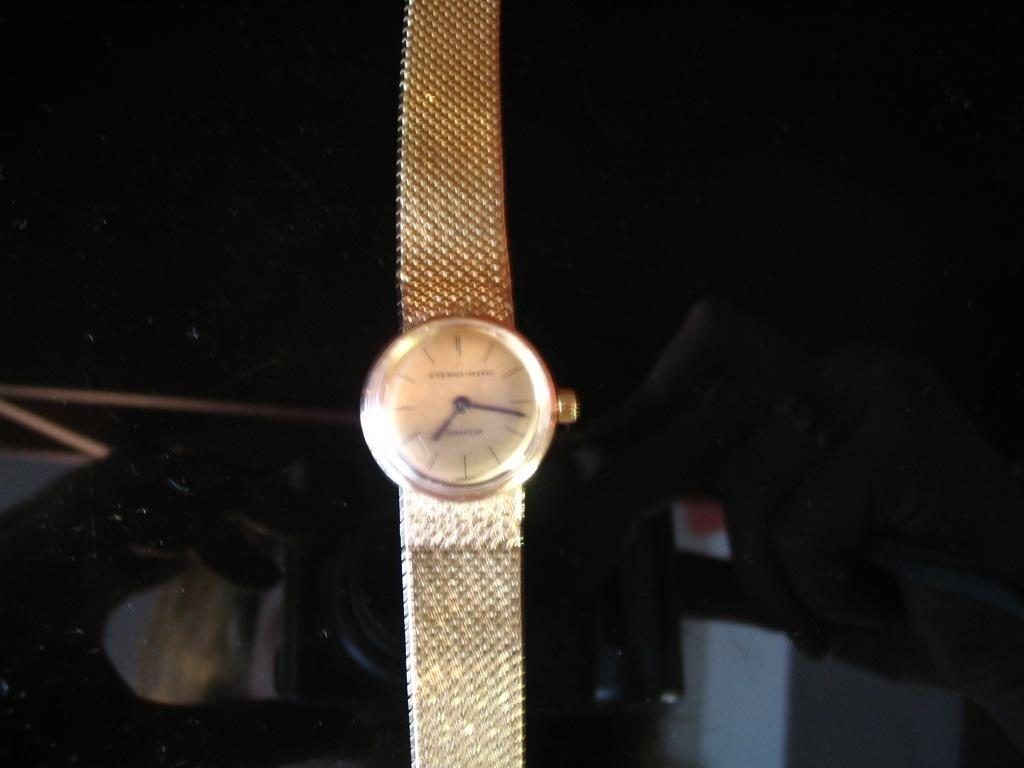 A lady's 9ct gold wristwatch by Eterna-matic