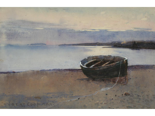 Hubert Coop Fishing boat on the shore, 24 x 35 cm (4).