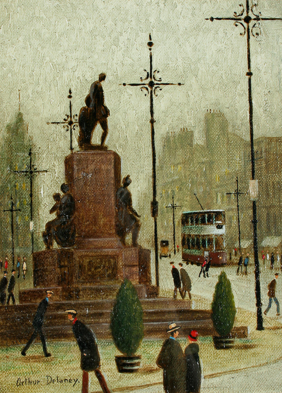 Arthur Delaney (1927-1987) Albert Square, Manchester, and Oxford Road, Manchester, a pair,
