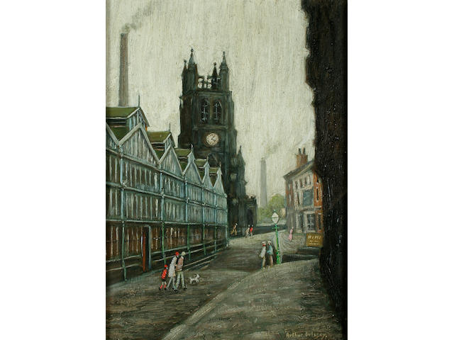 "Arthur Delaney (1927-1987) ""The Parish Church, Stockport"","