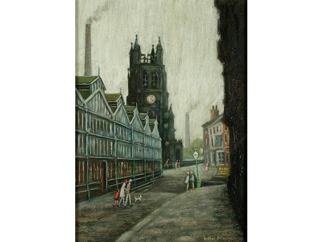 "Arthur Delaney (1927-1987) ""The Parish Church, Stockport"","
