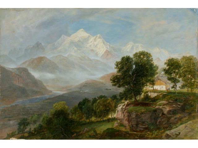 Charles Marshall Alpine scene,