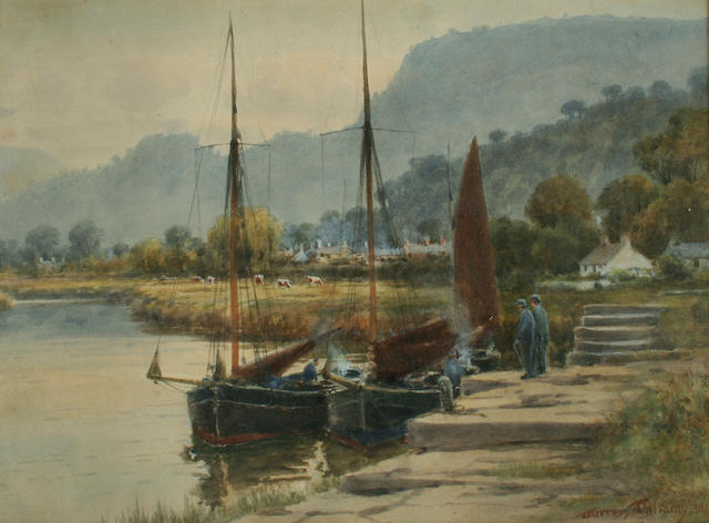 Warren Williams (1863-1918) On the River Conway, thought to be near Taly Cafn,