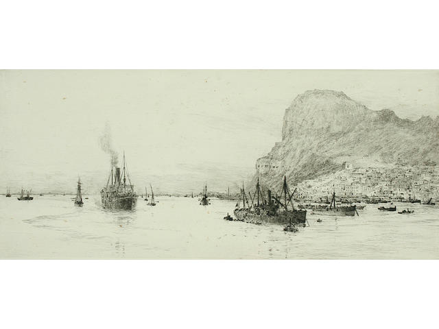 William Lionel Wyllie Shipping in the port of Gibraltar,