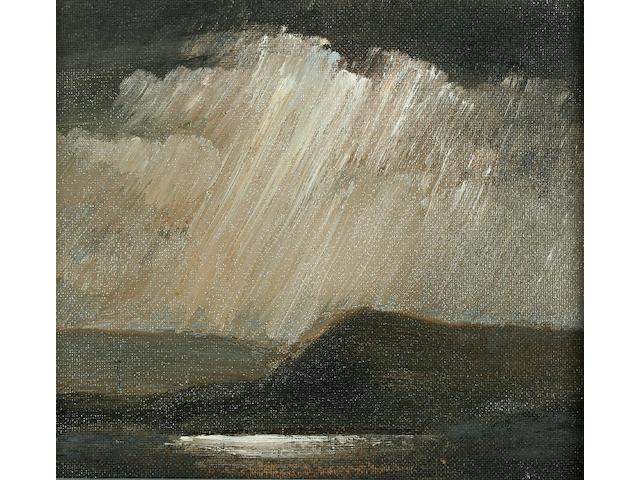 Theodore Major (1908-1999) Rain clouds and telegraph poles,