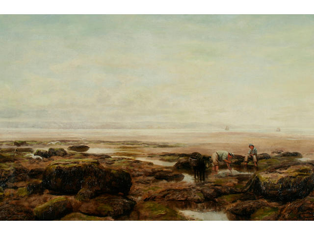 "Henry Rollett ""Low water at the mouth of the River Dee from Hilbre Island, Cheshire Coast"","