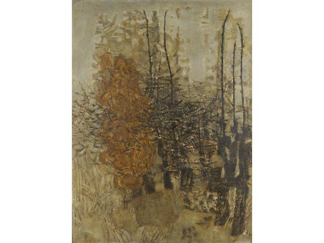 Prunella Clough (1919-2000) Winter Hedge 86 x 64.5 cm. (34 x 25 1/2 in.)