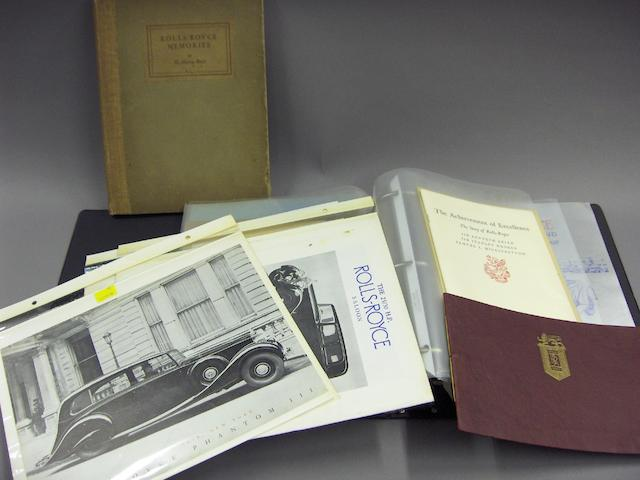 Assorted Rolls-Royce/Bentley booklets, pamphlets and ephemera,