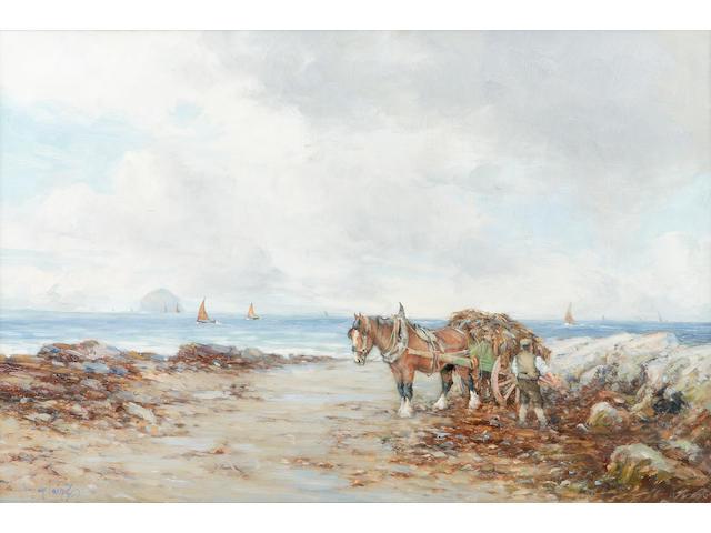 Tomson Laing (fl1890-1904) Seaweed gatherers