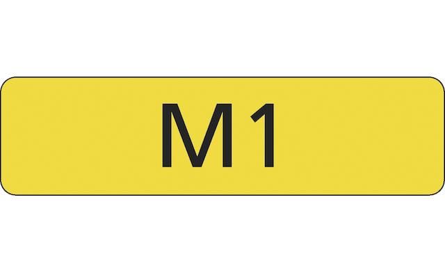 """Registration number """"M1"""", currently held on retention,"""