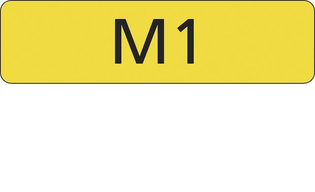 "Registration number ""M1"", currently held on retention"
