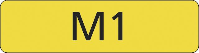 "Registration number ""M1"", currently held on retention,"