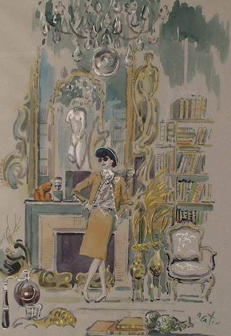 Sir Cecil Beaton (British, 1904-1980)  Portrait of Coco Chanel in her salon.
