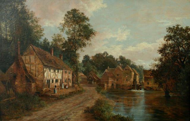 Charles Deane (1815-1851) Thames Watermill,
