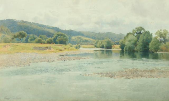 "George Cockram (1861-1950) ""The Vyrnwy River"","