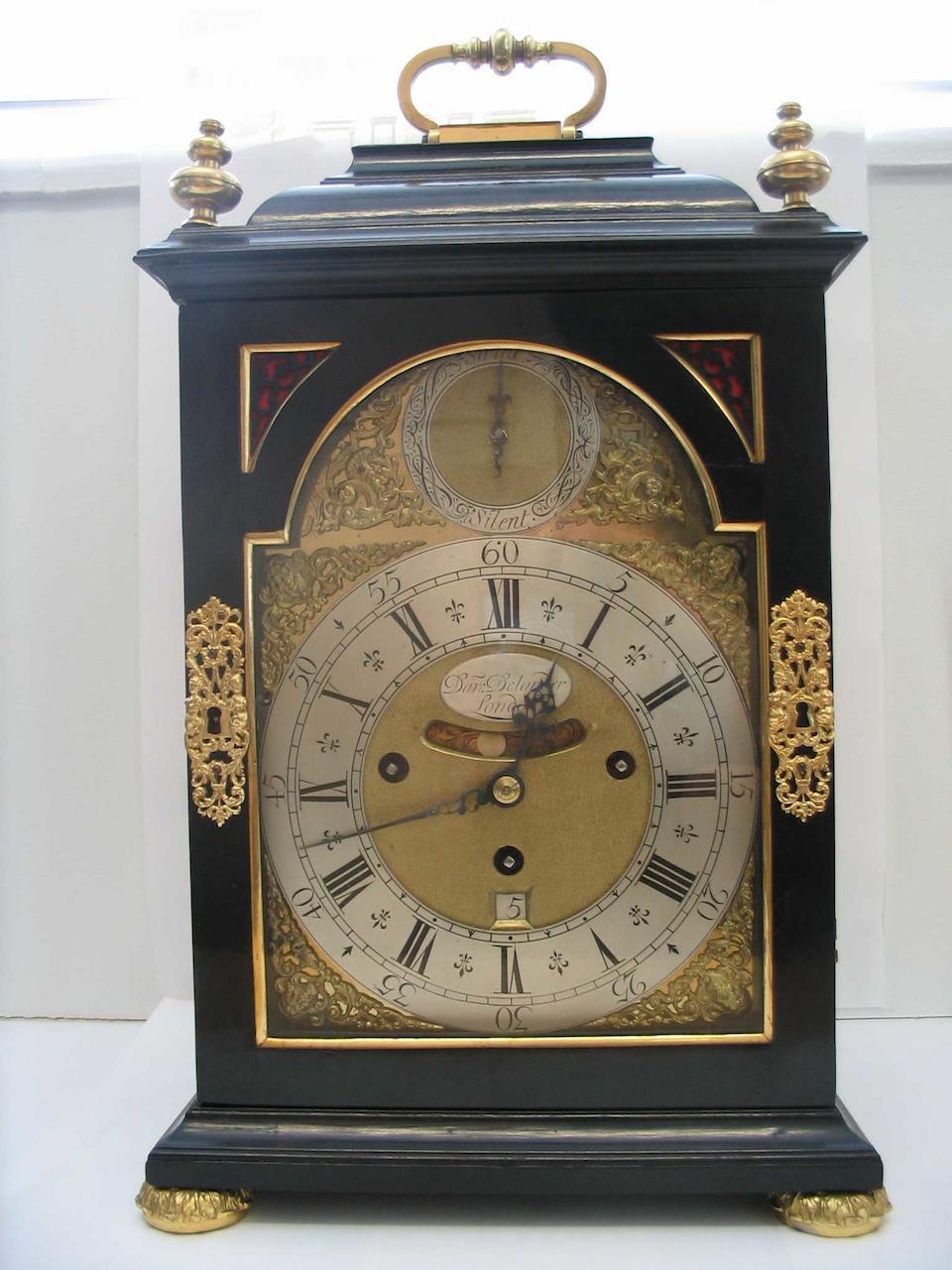 A good first half of the 18th century quarter chiming bracket clock Daniel Delander
