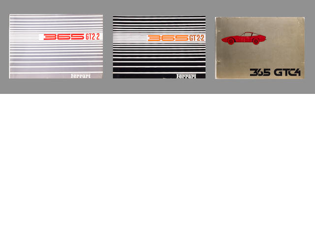 Three Ferrari spare parts catalogues,