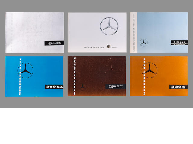 A collection of Mercedes-Benz original sales catalogues,