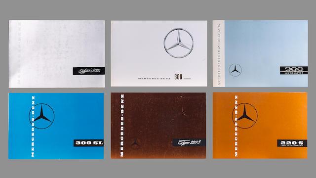 A collection of Mercedes-Benz original sales catalogues,