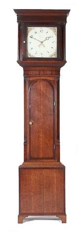 An oak cased thirty hour longcase clock John Peacock