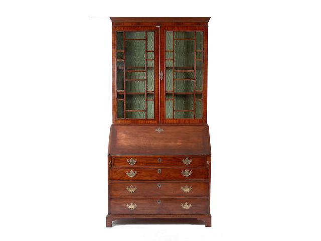 A 19th Century mahogany bureau bookcase