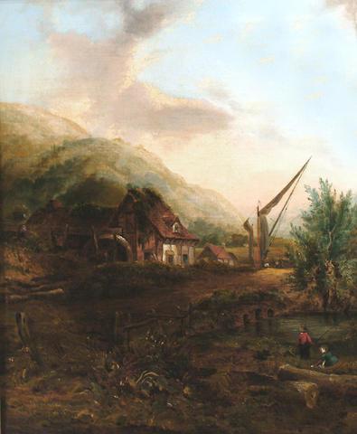 Frederick William Watts (British, 1800-1862) The watermill.