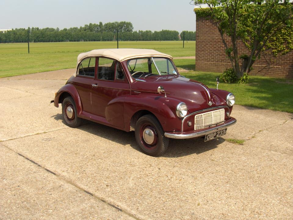 1952 Morris Minor Convertible  Chassis no. FCE11/166927 Engine no. 167075