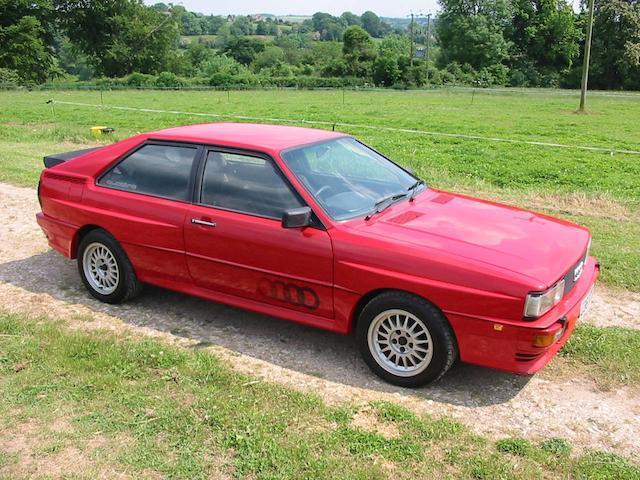 1984 Audi Quattro Coupé  Chassis no. WAUZZZ85ZEA90115 Engine no. WR065300