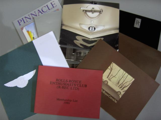 Assorted Rolls-Royce and Bentley publications and ephemera,